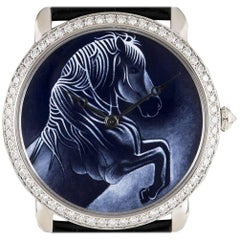Cartier White Gold Ronde Louise XL Year Of The Horse Manual Wristwatch