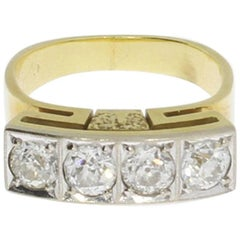 Handcrafted Diamond 14 Carat Gold Ring