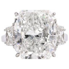 J. Birnbach GIA Certified 11.29 Carat Radiant Cut Diamond Ring
