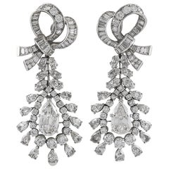 Van Cleef & Arpels Diamond Ribbon Bow Earrings