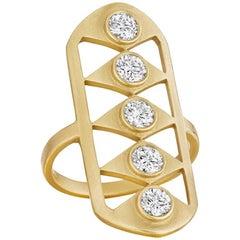 Doryn Wallach Gladiator Diamond Cocktail Ring