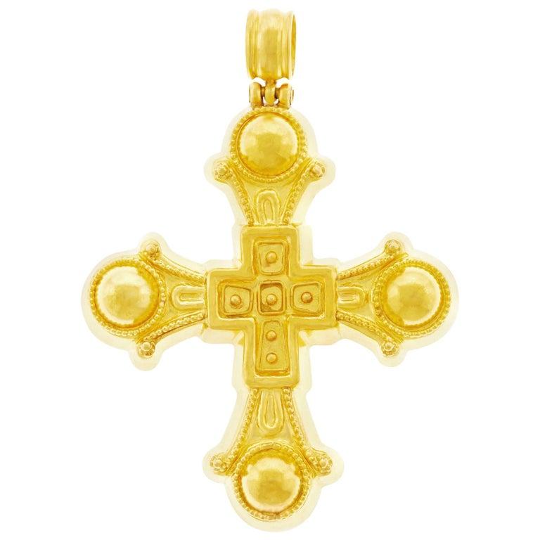 Lalaounis Medieval High Karat Gold Cross