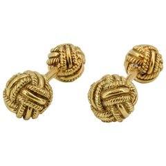 Tiffany & Co. Schlumberger Gold Knot Dumbbell Cufflinks