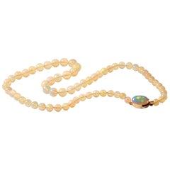 18 Karat Opal Beaded Necklace