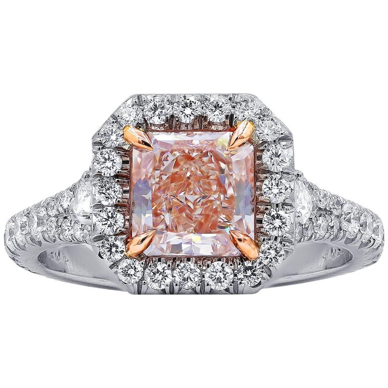 GIA Certified 1.51 Fancy Color Diamond Ring