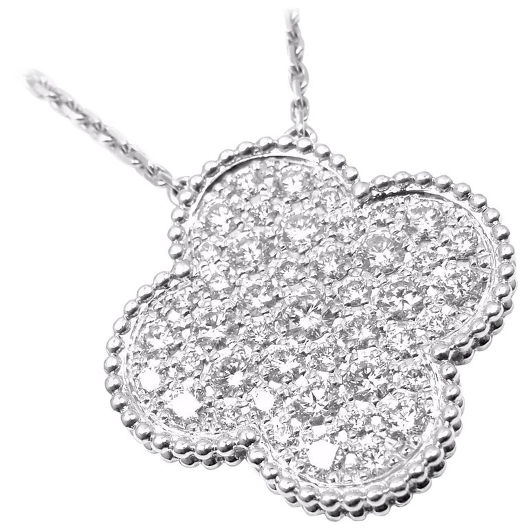 Van Cleef & Arpels Diamond Magic Alhambra White Gold Necklace