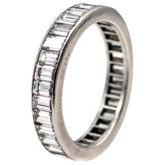 Van Cleef & Arpels Baguette Diamond Platinum Eternity Band
