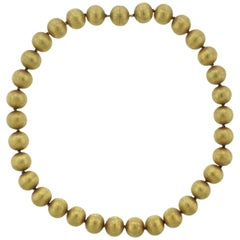 Buccellati Gold Bead Necklace