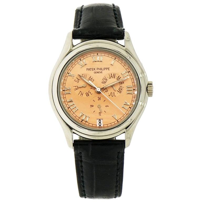 Patek Philippe White Gold Annual Calendar self-winding Wristwatch Ref 5035G