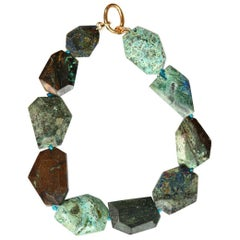 Azzurrite Geometric Shape Necklace