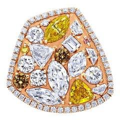 Champagne Fancy Diamond Confetti Ring