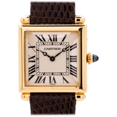 Cartier Yellow Gold Obus quartz wristwatch, circa 1980s
