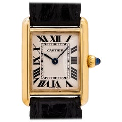 Cartier Ladies Yellow Gold Tank Louis quartz wristwatch, circa 1990s