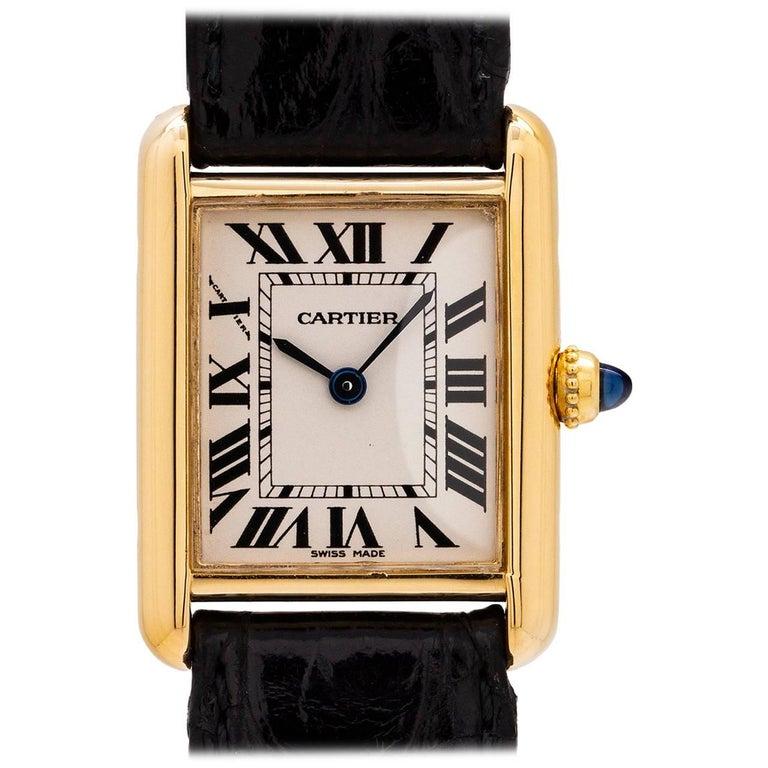 Cartier Ladies Yellow Gold Tank Louis quartz wristwatch, circa 1990s