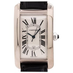 Cartier White Gold Tank American Extra Large Automatic Wristwatch, circa 1990s