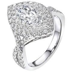 1.20 Carat Marquise Cut Diamond Engagement Ring