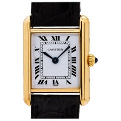 Cartier Ladies Yellow Gold Tank Louis manual wind Wristwatch, circa 1970s