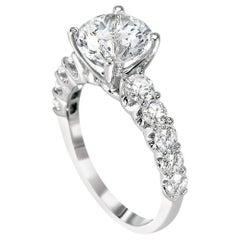 GIA Certified 0.94 Carat Diamond Engagement Ring