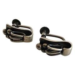 Hans Hansen Sterling Silver Earrings