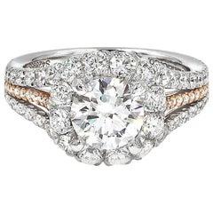 1.41 Carat Diamond Two-Tone Engagement Ring