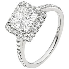 2.02 Carat Princess Cut Engagement Ring
