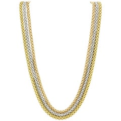 Fope Flex'it 18 Karat Tri-Colored Three Strand Gold Necklace