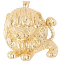 Lion French Brooch