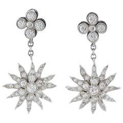 Tiffany & Co. Diamond Sunburst Earrings