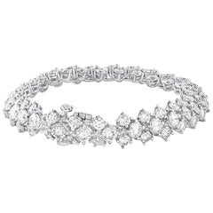 17.71 Carat Three-Row Diamond Tennis Bracelet