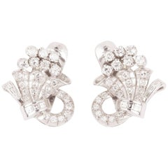French Art Deco Diamond Earrings