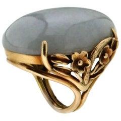 Lavander Jade 14 Carat Yellow Gold Ring
