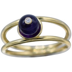 Aletto Brothers Amethyst Bead and Diamond Ring