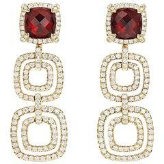 David Yurman Garnet Drop Earrings