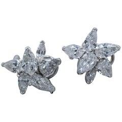 6 Carat Diamond Pear Shaped Earrings