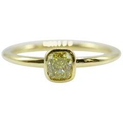Tiffany & Co. Bezet Fancy Intense Yellow 0.41ct Diamond Ring in 18kt Yellow Gold