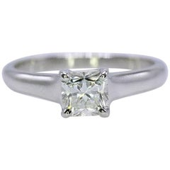 Tiffany & Co. Lucida 0.72 Carat Diamond and Platinum Engagement Ring