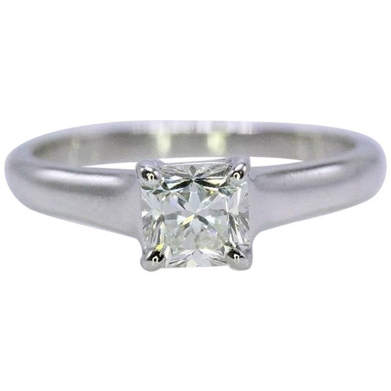 Tiffany & Co. Lucida 0.72 Carat Diamond and Platinum Engagement Ring