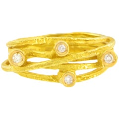 Sacchi Diamonds Gemstone 18 Karat Yellow Gold Fashion Ring