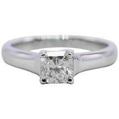 Tiffany & Co. Lucida 0.63 Carat G VS1 Diamond and Platinum Engagement Ring
