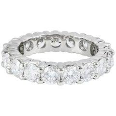 All GIA Certified Round Diamond Eternity Wedding Band