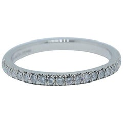 Tiffany & Co. Soleste Round Brilliant Diamond Band Ring in Platinum