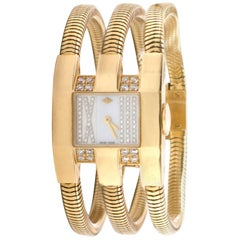 Van Cleef & Arpels Yellow Gold Diamond Liane collection Wristwatch