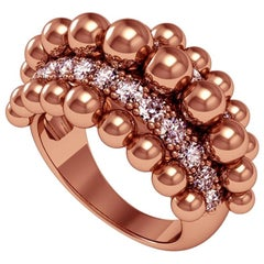 Melody Deldjou Fard & Sparkles 18 Karat Rose Gold and Diamond Ring