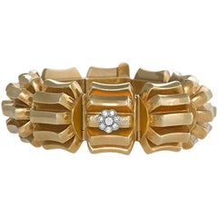 Omega 1960s Diamond and Gold Watch Bracelet