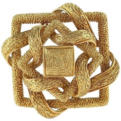 Cartier 1960s Gold Brooch