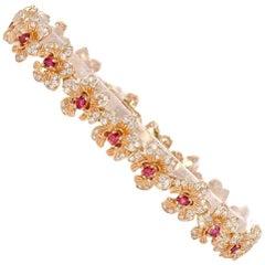 Carrera y Carrera Seda Imperial Collection Orquidea Diamond and Ruby Bracelet