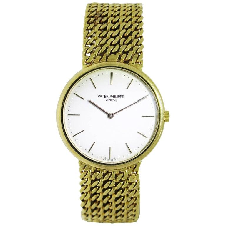 Patek Philippe Yellow Gold Manual Wristwatch Ref 3820J