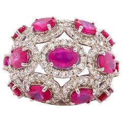 4.47 Carat Ruby and 1.50 Carat Diamond Ring