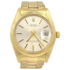Rolex Yellow Gold Date automatic Wristwatch Ref 1503, 1981