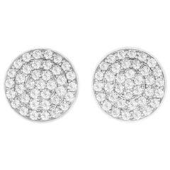 0.60 Carat Diamond Disk Stud Earrings